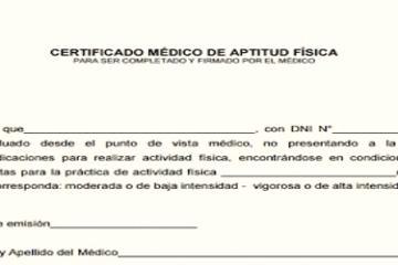 Certificado de Aptitud Física y Apto físico | Obtención