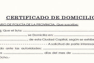 Certificado de Domicilio | Requisitos + Descarga Online