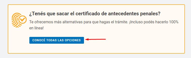 Imagen: Certificado de Reincidencia